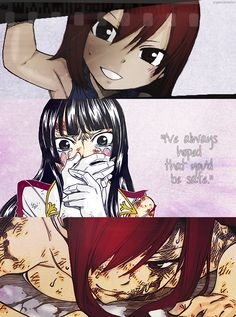 "if not for your friends who are alive now, then for the friends who sacrificed their lives for you! Erza from Fairy Tail ""I've always hoped the you'd be safe. Fairy Tail Girls, Fairy Tail Love, Fairy Tail Couples, Fairy Tail Ships, Jerza, Nalu, Fairy Tale Anime, Fairy Tales, Sad Fairy"