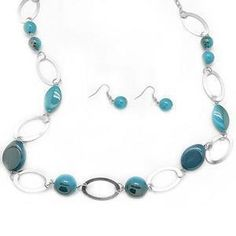 Debs Jewelry Shop - Paparazzi Necklace - Blue Turquoise Marbles with Silver Ovals, $5.00 (http://www.debsjewelryshop.com/paparazzi-necklace-blue-turquoise-marbles-with-silver-ovals/)