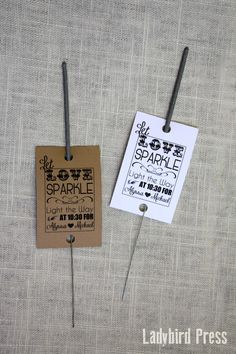 Wedding Sparkler Tags - Personalized Printable Wedding Favor Sparkler Tags - PDF - Let Love Sparkle on Etsy, $8.00