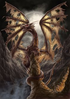 Zombie Dragon by *AndrewDobell on deviantART