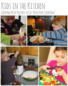 A Round Up of Recipes to Get Your Kids Cooking #parenting #food