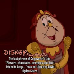 Beauty and the beast disney fact