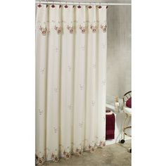 Nicole Miller Golden Rule Fabric Shower Curtain