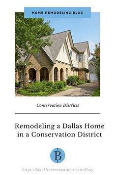 In Dallas, as in some other cities throughout the nation, a trend in city planning is the creation of conservation districts that are distinct from more familiar historic districts. The difference between the two may seem minimal at first, but the concerns for anyone planning a home remodel are quite different. Historic districts reflect the architectural integrity of a neighborhood by requiring adherence to strict exterior guidelines, preserving the design, form, materials... Integrity, Conservation, Home Remodeling, Dallas, Minimalism, The Neighbourhood, Cities, Two By Two, Exterior
