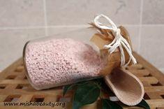 MishaBeauty - DIY kosmetika: Sametově šumivá koupelová sůl