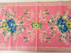 Vintage tea towel - want! Would make beautiful cushions!