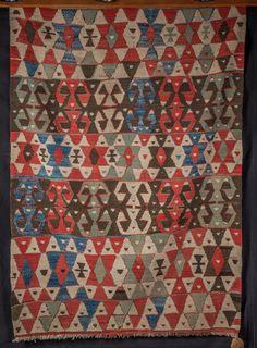 Vintage Nomadic Kilim from Western Anatolia Turkey by NoahsArkRugs on Etsy Westerns, Turkey, Carpet, Quilts, Rugs, House, Etsy, Vintage, Farmhouse Rugs