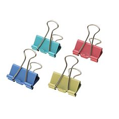 24 QUALITY NEW COLOURFUL FOLDBACK BINDER BULLDOG CLIPS 19, 25, 30 or 40mm WIDTH