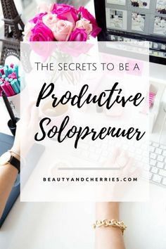 Click through if you want to be more productive in your creative business! Here are 6 Productivity Tips For Busy Solopreneurs. creative entrepreneur, marking strategies, small business tips, how to start your side hustle, grow your business Creative Business, Business Tips, Online Business, Business School, Etsy Business, Business Opportunities, Business Women, Social Media Apps, Time Management Tips