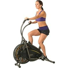 Stamina Air Resistance Exercise Stationary Bike Gym Equipment Workout Bicycle