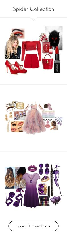 """""""Spider Collection"""" by a-gauche ❤ liked on Polyvore featuring WithChic, Lela Rose, Smashbox, Disney, Dolce&Gabbana, GUESS by Marciano, Marchesa, Oscar de la Renta, Carbon & Hyde and Giuseppe Zanotti"""