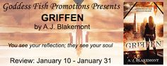 Griffen: Shadows of the Mirror Realm by A.J. Blakemont - @blakemont_books, @debbiereadsbook - Debbie, @GoddessFish, #Dark, #Fantasy, #Urban, 3 out of 5 (good) - January