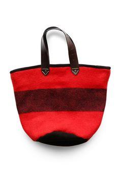 Orange Wool Blanket Tote Bag. $165.00, via Etsy.