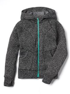 Athleta Girl Texture Hangout Hoodie Hoodies, Sweatshirts, Slim, Stylish, Jackets, Shopping, Teen, Texture, Sweatshirt