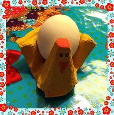 nu mijn eigen versie van de eierdop voor Pasen.