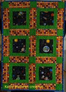 Baby boy space quilt