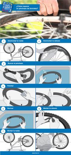 ¿Cómo reparar un pinchazo de bicicleta?