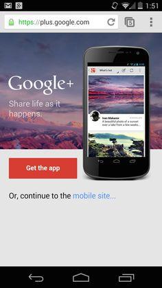Official Google Webmaster Central Blog: Google+: A case study on App Download Interstitials