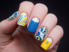 Make the most of your nail wraps: Peacocking with Jamberry Nail Shields | Chalkboard Nails | Nail Art Blog