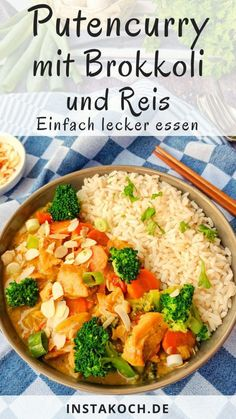 Turkey curry with broccoli, almonds and rice - Instakoch.de - Turkey curry with broccoli, almonds and rice – Instakoch.de Turkey curry with broccoli, almonds a - Clean Eating Soup, Clean Eating Recipes, Healthy Recipes, Turkey Curry, Turkey Soup, Hamburger Meat Recipes, Turkey Recipes, Vegetable Soup Healthy, Rice Recipes For Dinner