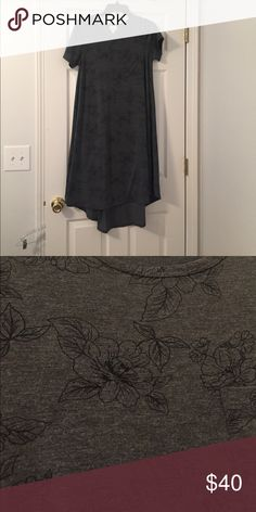 Black and Gray Floral Carly Worn once! Lost weight and slowly cleaning out my closet LuLaRoe Dresses
