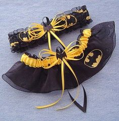 Batman Wedding Garter Set Black Bat with Gift Box in Clothing, Shoes & Accessories, Women's Handbags & Bags, Handbags & Purses | eBay