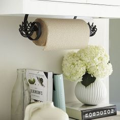 Under The Cabinet Paper Towel Holder Impressive Incredibly Easy Paper Towel Holder Diy Diys  Pinterest  Paper Decorating Design