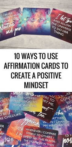ways to use affirmation cards to create a positive mindset 10 ways to use affirmation cards to create a positive ways to use affirmation cards to create a positive mindset Affirmations For Women, Wealth Affirmations, Morning Affirmations, Positive Affirmations, Affirmation Karten, Affirmation Cards, Law Of Attraction Planner, Law Of Attraction Quotes, Positive Mindset