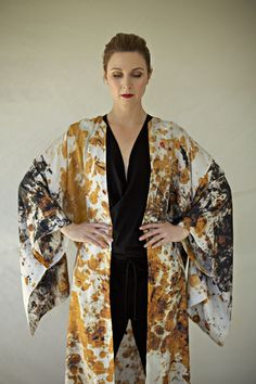 silk kimono Silk Kimono, Kimono Top, Boho, Clothing, How To Wear, Design, Women, Style, Fashion