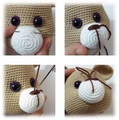 Connection 50 4 rows in n 16 sb pr 2 sb pr x 6 times 14 sb pr connection 58 orange thread 5 rows in n 58 concave relief columns Head (skin color) 1 row - 6 sbn in the ring amigurumi 2 rows - 6 pr 3 rd - (sb, pr) x 6 tim 8 Tips For Crochet Beginners - Salv Crochet Mouse, Crochet Teddy, Crochet Bunny, Knit Crochet, Crochet Animal Patterns, Stuffed Animal Patterns, Crochet Patterns Amigurumi, Crochet Dolls, Afghan Patterns