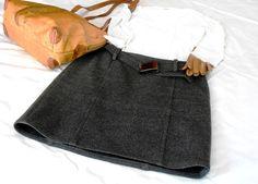 ON SALE20 off  Dark gray vintage miniskirt Les by cosediisa