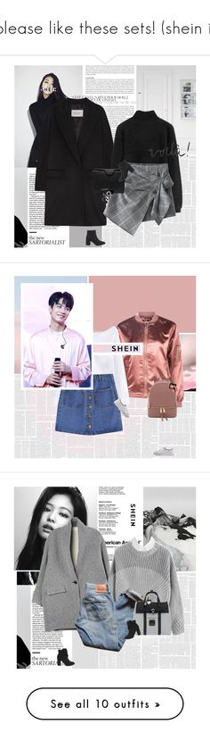 """please like these sets! (shein i)"" by e-laysian ❤ liked on Polyvore featuring MaxMara, Carven, NARS Cosmetics, Bobbi Brown Cosmetics, Nouba, Boohoo, Isabel Marant, Levi's, Henri Bendel and MAKE UP FOR EVER"