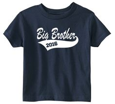 Lil Shirts Big Brother 2016 Little Boys Youth and Toddler Shirt
