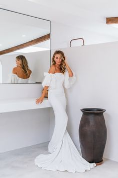 Meet the gorgeous Hazel by Emmy Mae. This minimal stunner will take your breath away. Hazel is made from a luxurious French crepe and hugs all the right places to make you feel like the sexiest girl in the room. French Crepes, Hugs, Minimal, That Look, Meet, Bridal, Formal Dresses, Luxury, Places