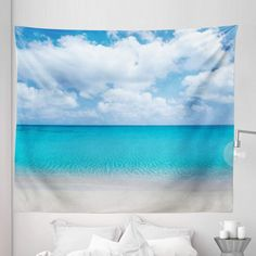 Discover the best beach themed tapestries and coastal wall tapestries. We love beach wall decor and tapestries are affordable and beautiful, which makes them a great option. Hanging Flower Wall, Hanging Art, Tapestry Wall Hanging, Ocean Themes, Beach Themes, Ocean Artwork, Black Ink Art, Blanket On Wall, Beach Wall Decor