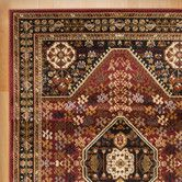 Found it at Wayfair - Red and Black Area Rug entry rugs round and 5 x 7