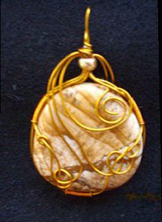 Picture Jasper gemstone pendant wrap