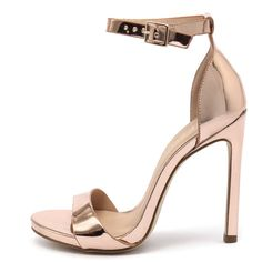 Verali Tahki Rose Gold/Metallic (£53) ❤ liked on Polyvore featuring shoes, high heel shoes, stiletto high heel shoes, synthetic shoes, high heel platform shoes and rose gold stilettos