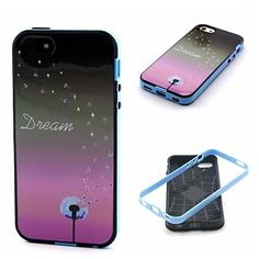 2-in-1 Star Dandelion Dream Pattern TPU Back Cover with PC Bumper Shockproof Soft Case for iPhone 5C – USD $ 4.99