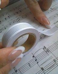 Musicians' Tape Size / Manuscript tape / Music correction tape / Composer Tape 'Large' (width 15mm)