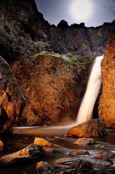 Night in Jump Creek Falls - Idaho: