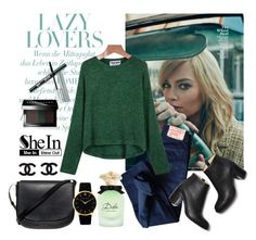 """""""Shein Sweater"""" by diva1 ❤ liked on Polyvore featuring Levi's, Paul Andrew, Mansur Gavriel, Larsson & Jennings, Bobbi Brown Cosmetics, Clinique, Benefit and Dolce&Gabbana"""