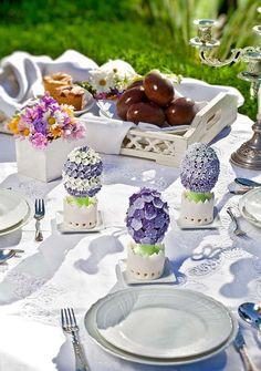 Idea per decorare la tavola il giorno di Pasqua.