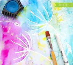 Painting with children: painting wonderful dandelions with water colors – Doro Kaiser Diy For Kids, Crafts For Kids, Books For Moms, Easy Paintings, Painting For Kids, Children Painting, Handicraft, Graphic Illustration, Colors
