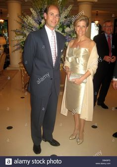 Prince Edward, Earl of Wessex and Sophie, Countess of Wessex attend a reception after the civil ceremony of the Royal Wedding of Prince Albert II of Monaco to Charlene Wittstock at the Prince's Palace of Monaco Monte Carlo, Monaco - - Stock Image Royal Uk, Royal Life, Sophie Rhys Jones, Countess Wessex, Lady Louise Windsor, Monaco, Graf, Isabel Ii, Royal Prince