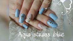 Nail art Aqua strass flower