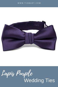 TieMart Dark Navy Blue Floppy Bow Tie