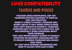 Pisces woman taurus man sexually