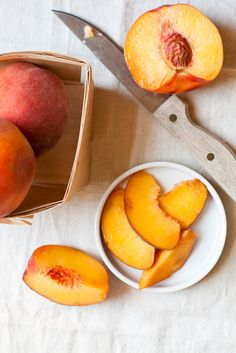 In the summer, my grandmothers kitchen would be filled with peaches that she made into pies and cobblers.