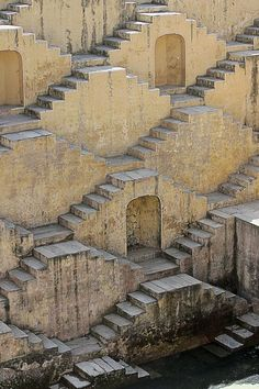 well of Chand Baori, India. thirty meters deep, thirteen floors, 3500 steps.